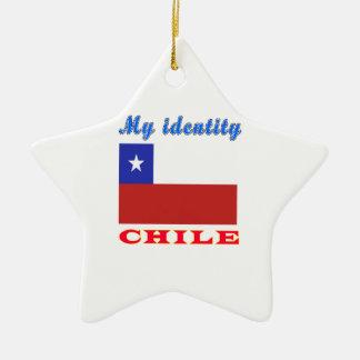 My Identity Chile Ceramic Star Decoration