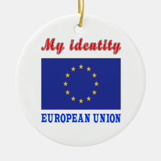 My Identity European Union Double-Sided Ceramic Round Christmas Ornament