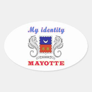 My Identity Mayotte Oval Sticker