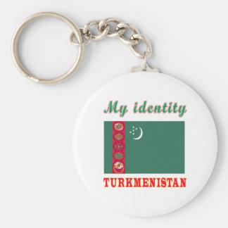 My Identity Turkmenistan Keychain