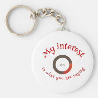 My interest in what you are saying key ring