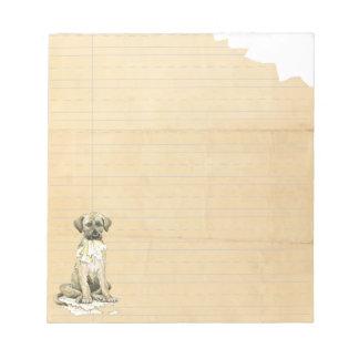 My Irish Wolfhound Ate My Homework Memo Note Pad
