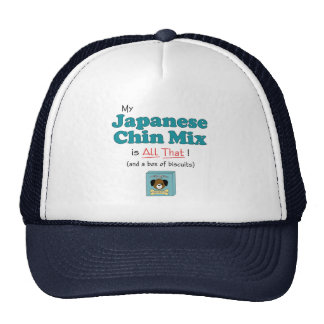 My Japanese Chin Mix is All That! Trucker Hats