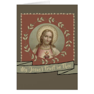 My Jesus I Trust in Thee Card