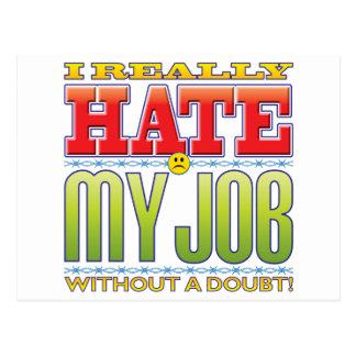 My Job Hate Face Postcard