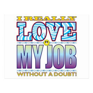 My Job Love Face Postcard