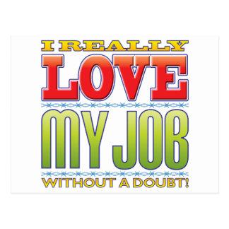 My Job Love Postcard