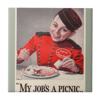 My Job's a Picnic - Little Johnny Philip Morris Ceramic Tile