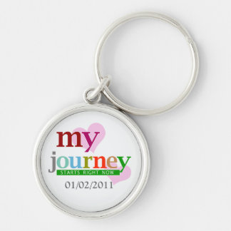 My Journey Starts Now Silver-Colored Round Key Ring