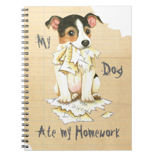 My JRT Ate My Homework Notebook
