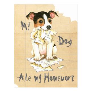 My JRT Ate My Homework Postcard