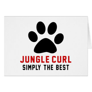 My Jungle Curl Simply The Best Greeting Card