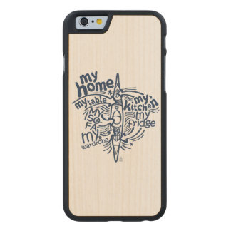 My kayak is my home carved maple iPhone 6 case