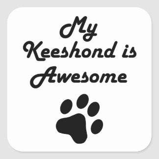 My Keeshond Is Awesome Square Sticker