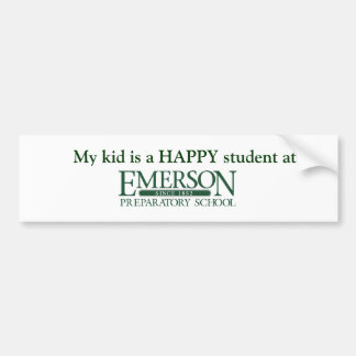My Kid is a HAPPY student at Emerson Prep Car Bumper Sticker