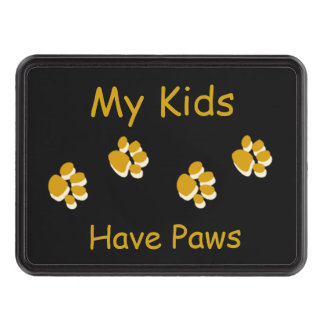 My Kids Have Paws Pawprint Trailer Hitch Cover Trailer Hitch Covers