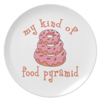 MY KIND OF FOOD PYRAMID PARTY PLATE