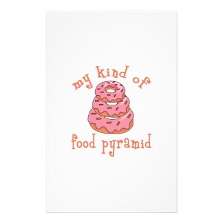 MY KIND OF FOOD PYRAMID STATIONERY PAPER