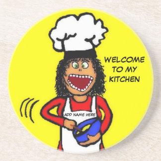 My Kitchen Cartoon Coaster