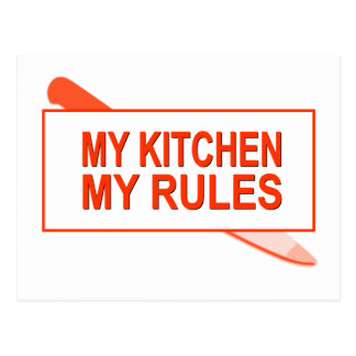 My Kitchen. My Rules. Fun Design for Kitchen Boss Postcard