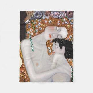 My Klimt Serie : Mother & Child Fleece Blanket