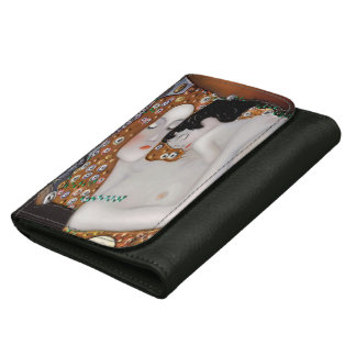 My Klimt Serie : Mother & Child Leather Wallet For Women