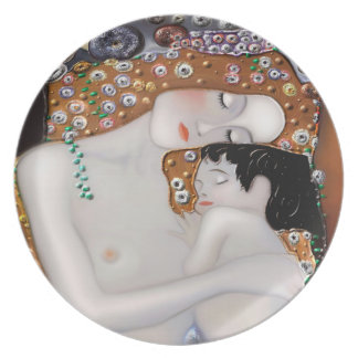 My Klimt Serie : Mother & Child Plate