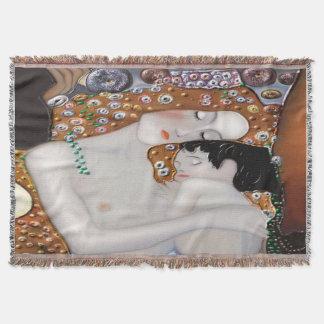 My Klimt Serie : Mother & Child Throw Blanket