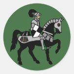 My Knight Round Stickers