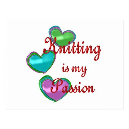 My Knitting Passion Postcard