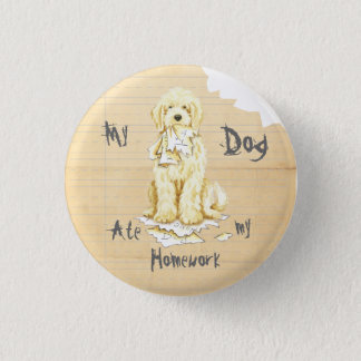 My Komondor Ate My Homework 3 Cm Round Badge