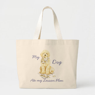 My Komondor Ate My Lesson Plan Large Tote Bag