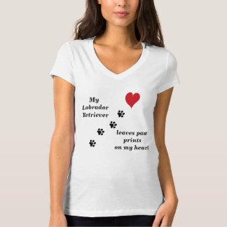 My Labrador Retriever leaves paw prints T-Shirt