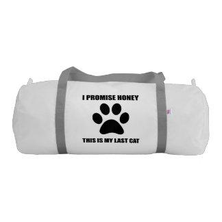 My Last Cat Gym Duffel Bag