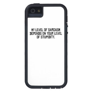 My Level Of Sarcasm iPhone 5 Cover
