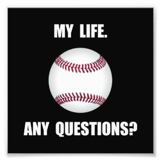 My Life Baseball Photo Art