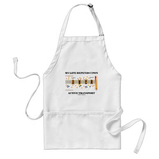 My Life Depends Upon Active Transport (Humor) Apron