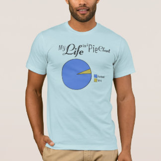 My Life In A Pie Chart - Facebook and Work for Men T-Shirt