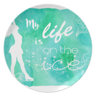 My Life is on the ice Figure Skating Design Plates