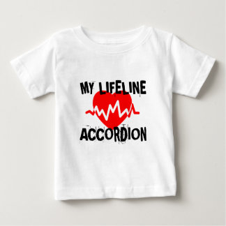 MY LIFE LINA ACCORDION MUSIC DESIGNS BABY T-Shirt