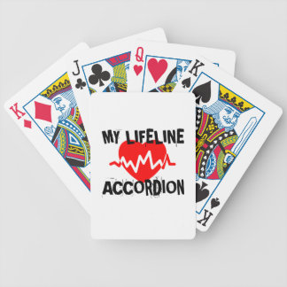 MY LIFE LINA ACCORDION MUSIC DESIGNS BICYCLE PLAYING CARDS