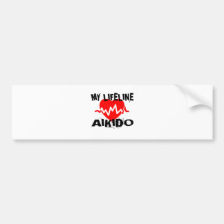 MY LIFE LINA AIKIDO MARTIAL ARTS DESIGNS BUMPER STICKER