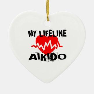 MY LIFE LINA AIKIDO MARTIAL ARTS DESIGNS CERAMIC ORNAMENT