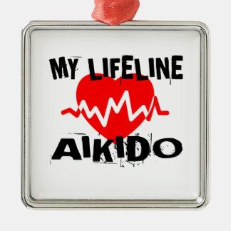 MY LIFE LINA AIKIDO MARTIAL ARTS DESIGNS METAL ORNAMENT