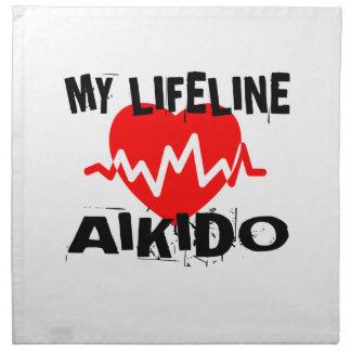 MY LIFE LINA AIKIDO MARTIAL ARTS DESIGNS NAPKIN