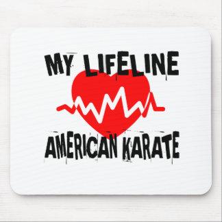 MY LIFE LINA AMERICAN KARATE MARTIAL ARTS DESIGNS MOUSE PAD