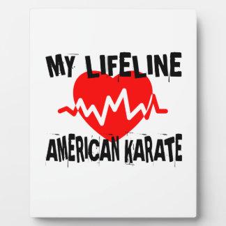 MY LIFE LINA AMERICAN KARATE MARTIAL ARTS DESIGNS PLAQUE