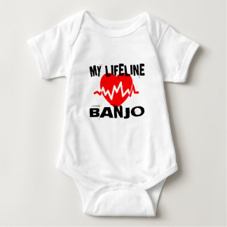 MY LIFE LINA BANJO MUSIC DESIGNS BABY BODYSUIT