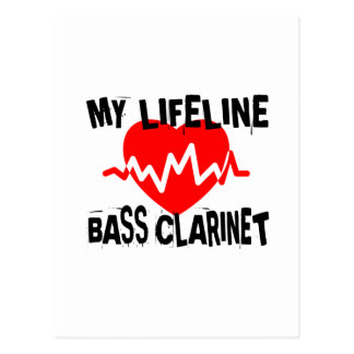 MY LIFE LINA BASS CLARINET MUSIC DESIGNS POSTCARD