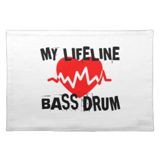 MY LIFE LINA BASS DRUM MUSIC DESIGNS PLACEMAT